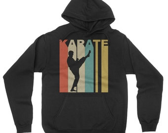 Retro 1970's Style Karate Martial Arts Sports Hoodie