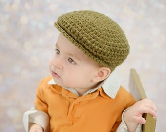 9 Sizes Olive Green Hat Baby Hat Toddler Hat Baby Boy Hat Toddler Boy Hat Mens Hat Irish Wool Donegal Cap Donegal Hat Flat Cap Newsboy Cap