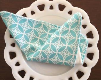 Light Blue Flannel Washcloths
