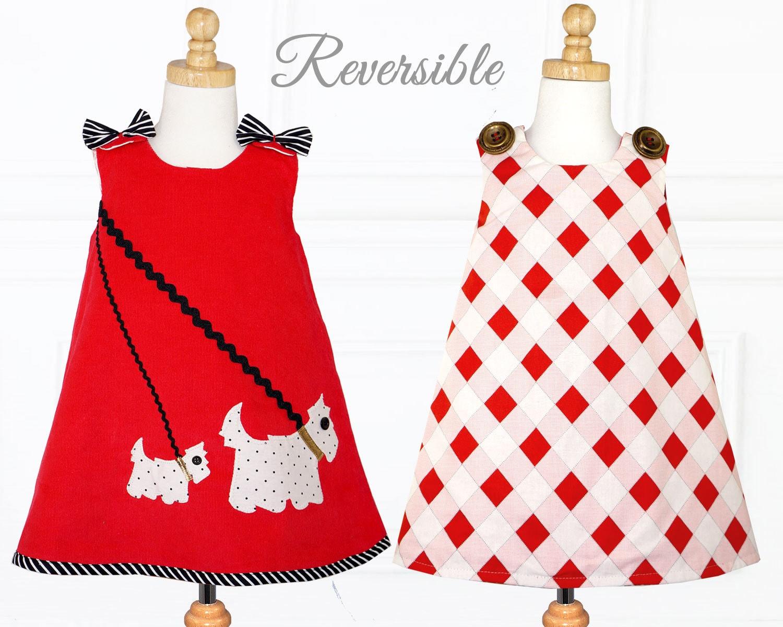 Childrens sewing patterns girls dress pattern pdf reversible zoom jeuxipadfo Gallery