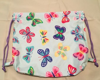All About The Butterflies Drawstring Backpack
