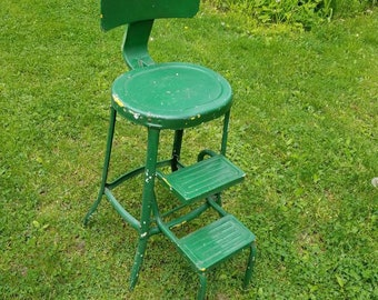 Vintage Stool, Metal Chair, Step Stool, Side Table, Plant Stand, Furniture, Kitchen