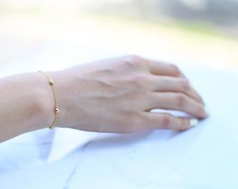 Ball Beaded Bracelet // Minimalist Bracelet // Everyday Bracelet // Dainty Bracelet for Her