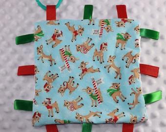 Rudolph the Red Nose Reindeer Sensory Blanket **Christmas Sensory Blanket