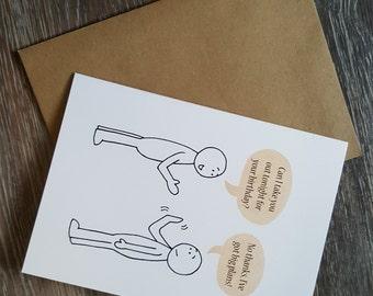 Happy Birthday Card, Funny Birthday Card, Cute Birthday Card, Introvert, Birthday Card Boyfriend, Birthday Card Girlfriend, Funny Cards
