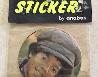 Vintage Michael Jackson Sticker by Anabas Ltd England 1973