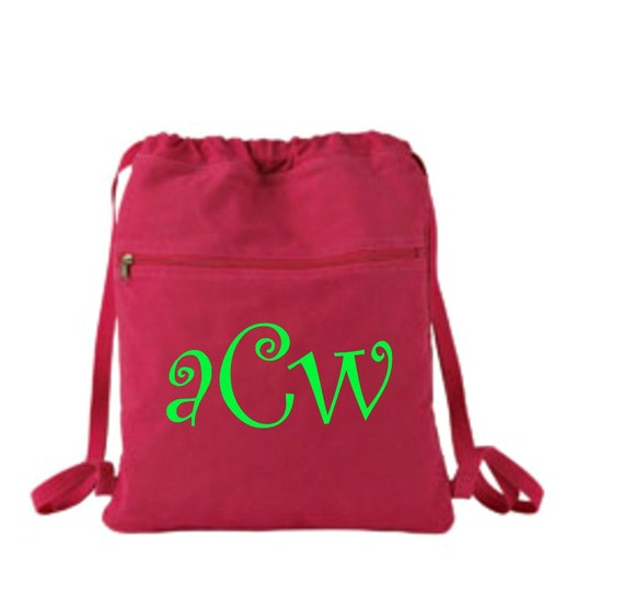 monogrammed embroidered authentic pigment 14 oz  pigment