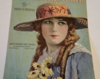 Reduced. 1917 sheet music, Maty Pickford, suitable for framing