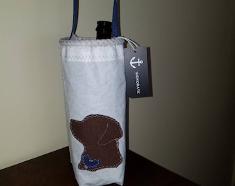 Chocolate Lab Recycled Sailcloth Tote