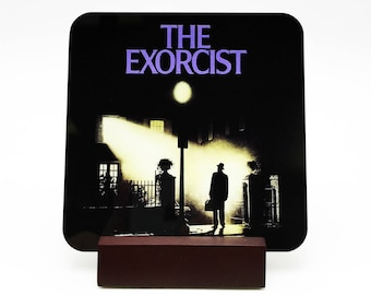 The Exorcist Coaster The Exorcist Drink Coaster Regan Coaster Horror Coaster Horror Decor 70s Horror Regan Drink Coaster Pazuzu