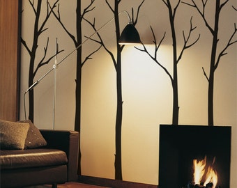 Wall Decals Living room Tree Wall Decals Sticker Set Large tree wall decal