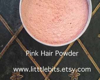 Historical Label: 18th Century Pink Hair, Blush Powder- Crushed Rose Petals Wash Out Hair Color Temporary Pink Hair Color Natural Hair Color