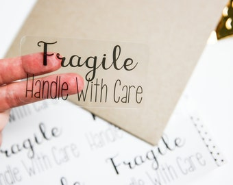 Fragile Handle With Care - Packaging Stickers - Product Stickers - Packaging Supplies