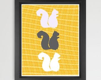 NEW ! Autumn Squirrels -   squirrels, nursery decorating ideas, nursery squirrels, Fall season