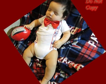 New England Patriots Themed Baby One Piece