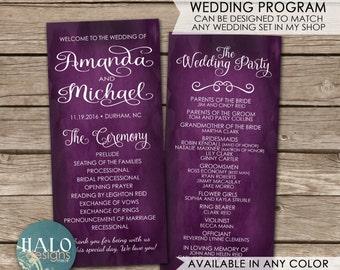 Slim Wedding Program