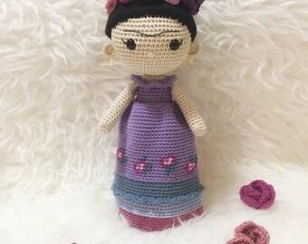 Amigurumi Frida Kahlo : Frida kahlo amigurumi mini frida doll from crochetienda on etsy