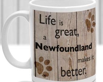Newfoundland dog mug, Newfoundland gift, dog breed mug, ideal present for dog lover