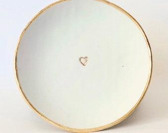 Ring Dish Wedding Ring Dish Blessing Bowl Wedding Gift Bridesmaid Gift Jewelry Dish Heart Ring Dish Blessing Bowl Graduation Prayer Bowl
