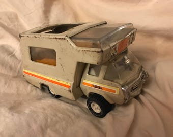 1970s Vintage Tonka Toys pressed metal camper van
