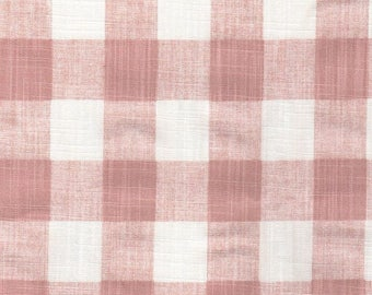 Pink Buffalo Check Curtains. Girls Bedroom Curtains. 2 Panels of 50x84. Blush Pink Check Curtains. Nursery Curtains. Shabby Chic Curtains.