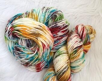Vintage Rainbow, Worsted hand dyed, 100% superwash wool