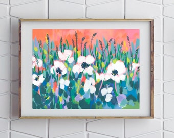 Rosemoor Poppies / Signed Flower Giclee Print