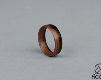 Ebony wood ring Etsy
