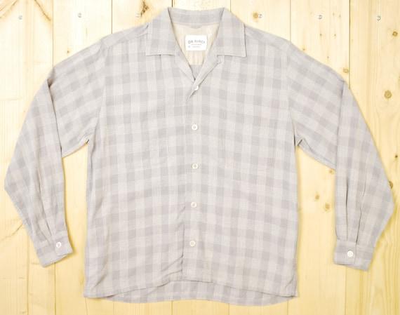 1960s DaVinci Oxford Shirt Sz M Vintage Retro Cruiser PwdMNuK13V