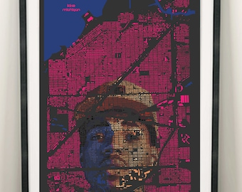 Chance the Rapper Poster, Chance the Rapper Print, Music Poster, Chicago Art, Chicago Print, Chicago Poster, Chicago Map