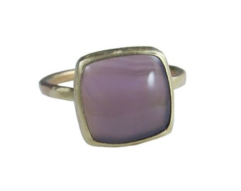 Holley Lavender Chalcedony Ring in Recycled 14k Gold - One of a Kind