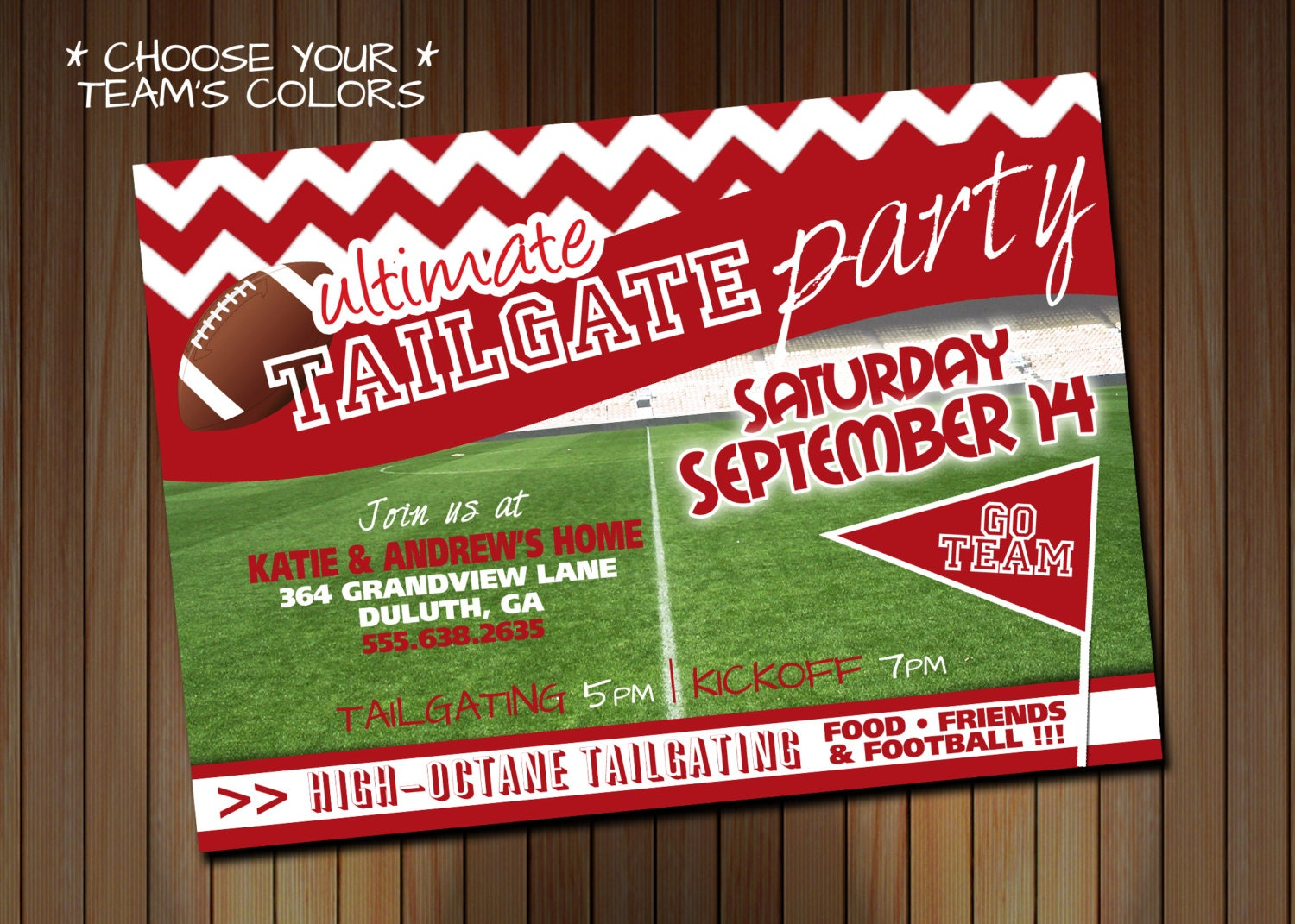 Tailgating Party Invitation OR Birthday Party Invitation - Birthday party invitation flyer template