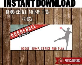 Dodgeball Favor TAGS, Dodgeball Party, TAG, DodgeBall, Dodgeball Birthday, Treat Tag, Digital, Print file, Gaga, Party, INsTANT DOWNLOAD