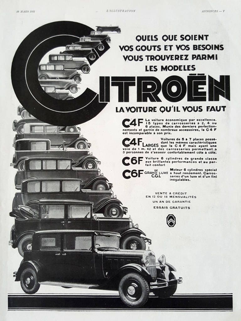 CITROEN vintage poster car memorabilia vintage advertising