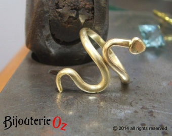 Snake Ring, Serpent ring, adjustable snake ring Handmade by BijouterieOz.