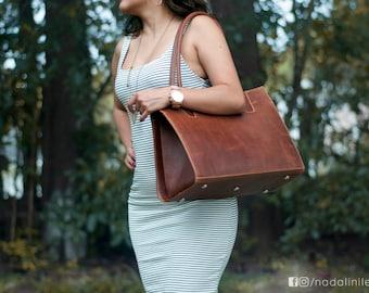Women's Leather HandBag, big leather handmag, handmade leather handbag for women.