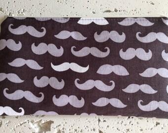 Moustache Zipper Pouch/Gadget Bag