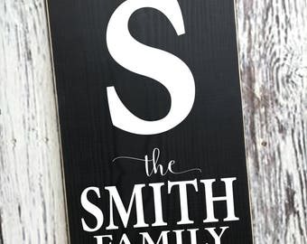 Family Established Sign | Family Name Sign | Established Name Sign | Custom Family Name | Last Name Sign | Monogram Sign | Style# FA51b