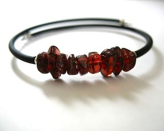 Garnet Bracelet, Garnet Stone Bracelet , Handmade Stone Cuff Birthstone Bracelet Jewelry, Gemstone Bracelet
