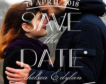 Custom Photo Save the Date Postcard