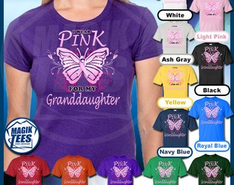 I Wear Pink For My Grandduaghter (BF) Breast Cancer Awareness T-Shirt