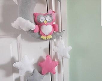 Baby/Nursery Mobile. Owl and stars mobile