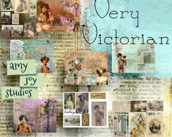 Very Victorian  Vintage junk journal kit  digital Scrapbook  printable collage  vintage journal  diy  smashbook  ephemera pack  Victorian