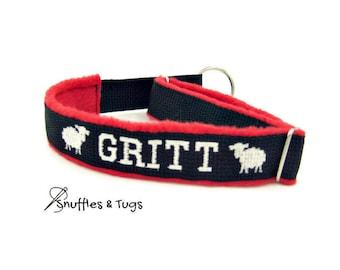 Martingale dog collar custom dog collar embroidered cog collars personalized cute girl dog collar boy boy collar cool ID dog collar