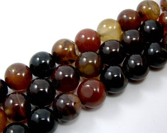 Brilliant Pearl agate 10 mm Brown set of 4