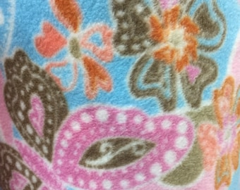 Spring Time Print Fleece Fabric by David Textiles by the yard