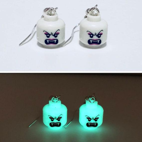 Glow In The Dark Vampire Dropdown Earrings