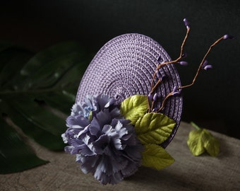 Fascinator Purple, Hair Accessories Violet, Summer Fascinator, Wedding, Maid of Honor, Mother of the Bride, Gift for Girlfriend, Gifts, 2018