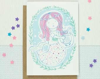 Mermaid All Occasion Card - Mermaid Magic - Just Because - Friendship - Love - Appreciation - Greeting Card