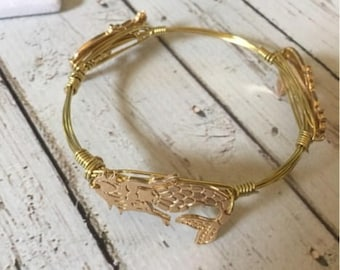 Mermaid Gold Wire Bangle Bracelet